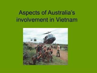 Aspects of Australia's involvement in Vietnam