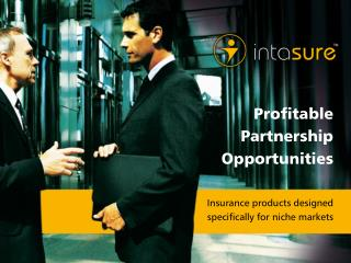 Insurance products designed  specifically for niche markets