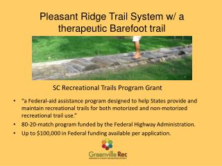 SC Recreational Trails Program Grant
