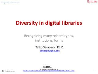 Diversity in digital libraries