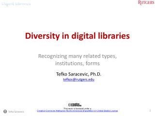 Diversity in digital libraries