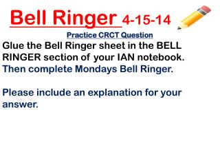Bell Ringer  4-15-14