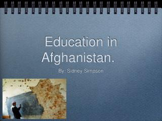 Education in Afghanistan.