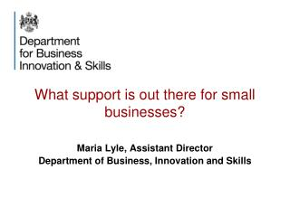 What support is out there for small businesses?