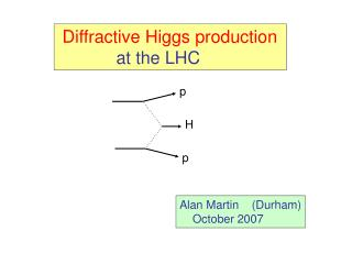 Diffractive Higgs production             at the LHC