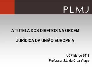 A TUTELA DOS DIREITOS NA ORDEM JURÍDICA DA UNIÃO EUROPEIA