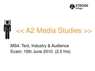<< A2 Media Studies >>