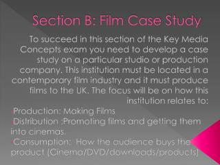 Section B: Film Case Study