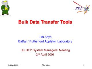 Bulk Data Transfer Tools