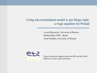 Using microsimulation model to get things right:  a wage equation for Poland