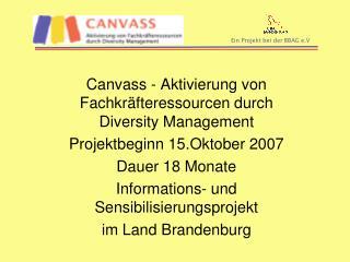 Canvass - Aktivierung von Fachkräfteressourcen durch Diversity Management