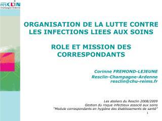Corinne FREMOND-LEJEUNE Resclin-Champagne-Ardenne resclinchu-reims.fr