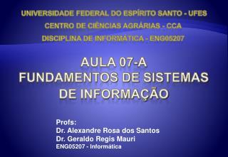 Aula 07-a Fundamentos de sistemas de informação