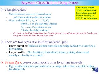 Bayesian Classification Using P-tree