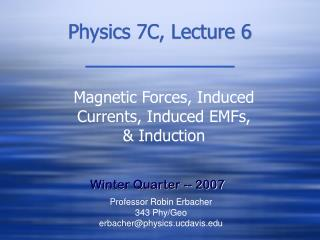 Physics 7C, Lecture 6