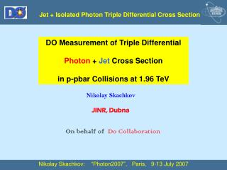 Jet + Isolated Photon Triple Differential Cross Section