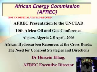 African Energy Commission (AFREC)