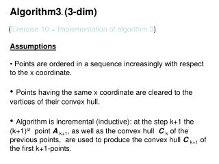 Algorithm3 .  (3-dim)