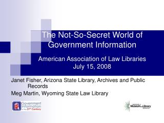 Janet Fisher, Arizona State Library, Archives and Public 	Records