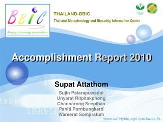 Accomplishment  Report 2010