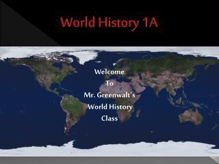 World History 1A