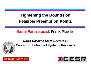 Tightening the Bounds on  Feasible Preemption Points