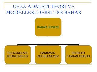 CEZA ADALETİ TEORİ VE MODELLERİ DERSİ 2008 BAHAR