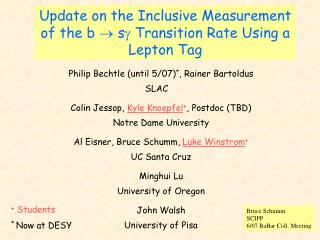 Update on the Inclusive Measurement of the b   s Transition Rate Using a Lepton Tag