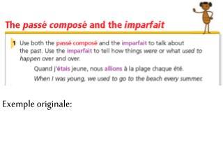 Exemple originale: