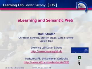 e Learning  and S emantic Web