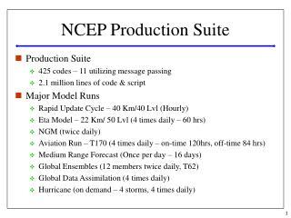 NCEP Production Suite