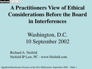 Appellate/Interference Practice in the New Millennium, September 2002  - Slide  1