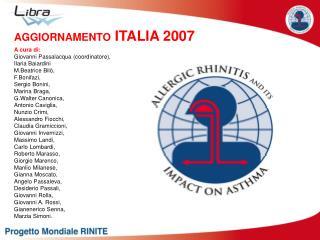 A cura di: Giovanni Passalacqua (coordinatore),  Ilaria Baiardini M.Beatrice Bilò, F.Bonifazi,