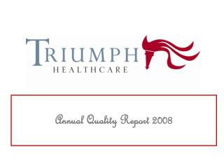 Annual Quality Report 2008