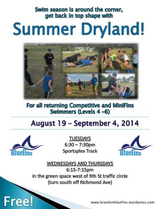 Swim season is around the corner, get back in top shape with Summer Dryland!