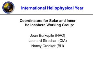 International Heliophysical Year