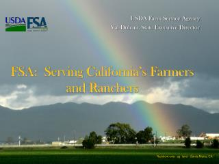 USDA Farm Service Agency Val Dolcini, State Executive Director