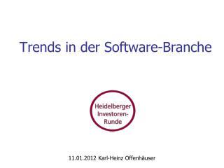 Trends in der Software-Branche