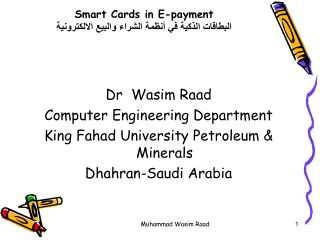 Smart Cards in E-payment