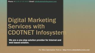 Digital Marketing Services with CDOTNET Infosystem