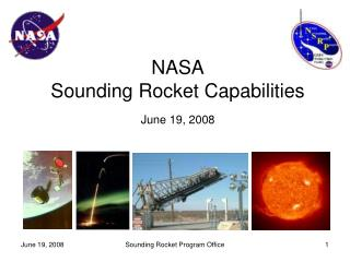 NASA Sounding Rocket Capabilities