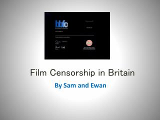 Film Censorship in Britain