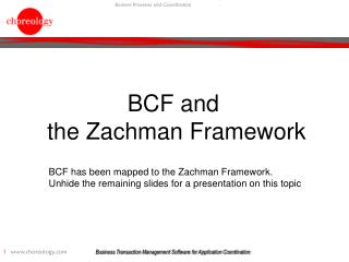 BCF and  the Zachman Framework