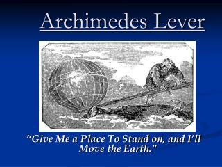 Archimedes Lever