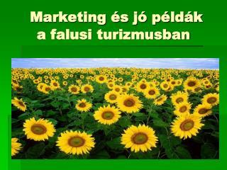 Marketing és jó példák a falusi turizmusban