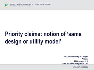 Priority claims: notion of 'same design or utility model'