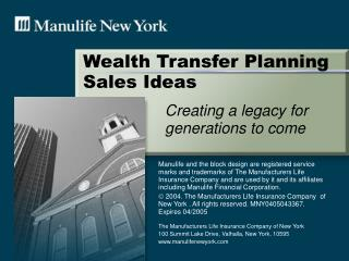 Wealth Transfer Planning Sales Ideas