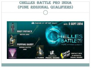CHELLES  BATTLE  PRO  INDIA (PUNE  REGIONAL  QUALIFIERS)