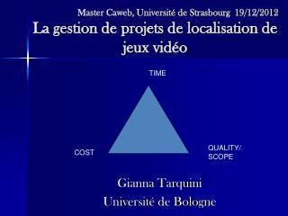 Gianna Tarquini Université de Bologne