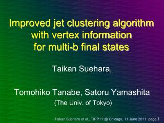 Improved jet clustering algorithm with vertex information for multi-b final states